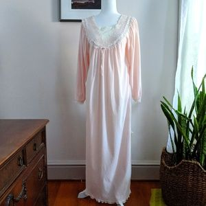 Christian Dior Vintage Pink Lace Nightgown Small